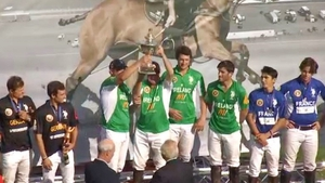 Ireland receive the championship trophy