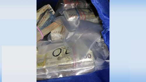 Gardaí found the cash concealed in a truck on the M50