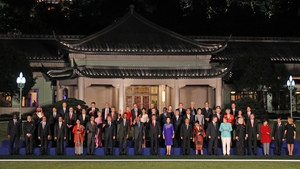 The state leaders pose for a group photo at the G20 summit in Hangzhou, China