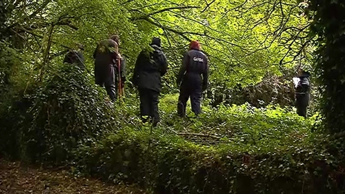 The scene remains sealed off for a technical examination as gardaí continue to search for the murder weapon