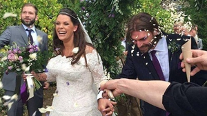 Fifi Geldof pictureed at her wedding at the weekend (Pic @fifigeldof)