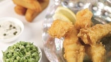 Avoca's fish and chips are crispy and delicious!