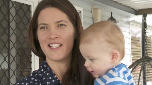 Rosie Nolan with baby William