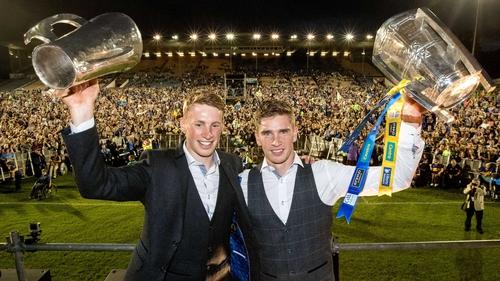 Tipperary minor captain Brian McGrath and senior captain Brendan Maher