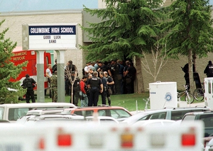 12 students and one teacher were murdered at Columbine, 1999