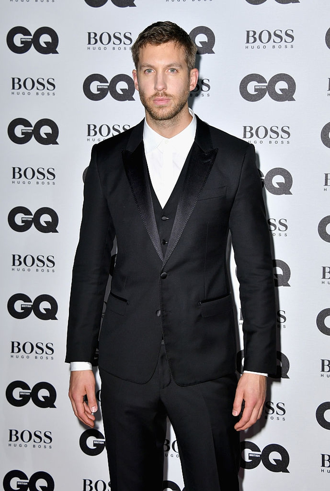 A cool, calm and collected Calvin Harris for the GQ's Men Award