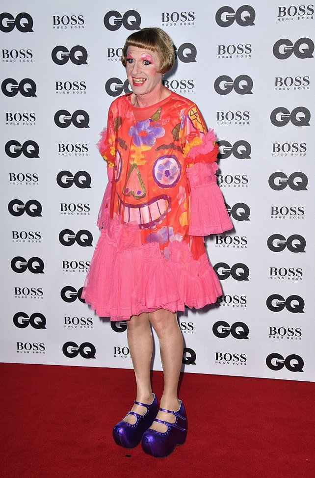 Grayson Perry: Winner as Writer of the Year & Worst look of the night, perhaps?