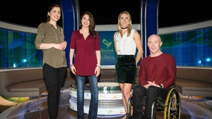 RTÉ Sport Paralympics 2016 presenters Joanne Cantwell and Daráine Mulvihill with panellists Natalya Coyle and Mark Rohan