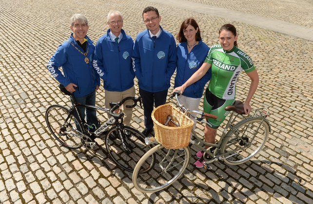 Cllr Andrew Montague, John Treacy, CEO, Sport Ireland, Minister of State for Tourism and Sport, Patrick O'Donovan, TD, Dr Una May and Caroline Ryan