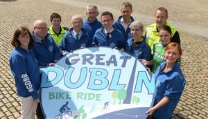 Garda Ruth Molloy, Dr Una May, Director of Participation & Ethics, Sport Ireland, Brendan Kenny, CEO, Dublin City Council, Ronan Twomey, Healthy Ireland, John Treacy, CEO, Sport Ireland, Minister of State for Tourism and Sport, Patrick O'Donovan, TD, Ciar