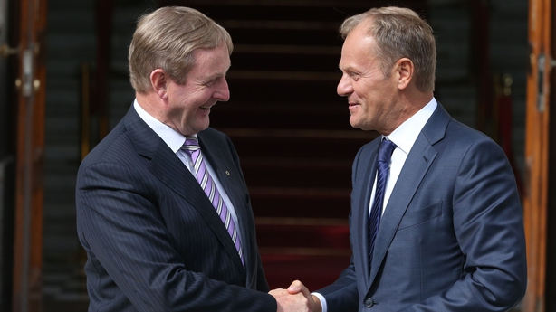 Enda Kenny meets Donald Tusk in Dublin