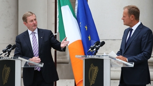 Enda Kenny expected to comment once European Council President Donald Tusk (R) responds to British PM's letter