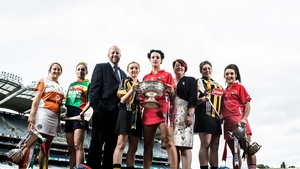 Captains gather at Croke Park ahead of the camogie finals