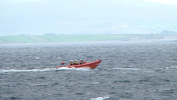 RNLI boat off Galway