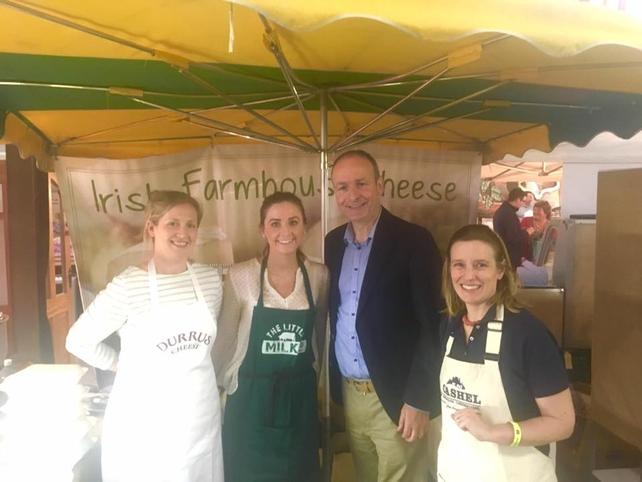 Irish Farmhouse Cheese team with Fianna Fáil Micheál Martin
