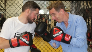 Ryan Tubridy squares up to Conor McGregor's coach John Kavanagh