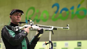 Sean Baldwin set a new season's best in the 10m Rifle Prone
