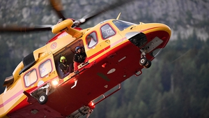 Helicopters from Switzerland, France and Italy were involved in the rescue operation