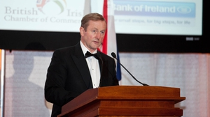 Enda Kenny was speaking at an event organised by the British Irish Chamber of Commerce (Pic: Paul Sherwood)