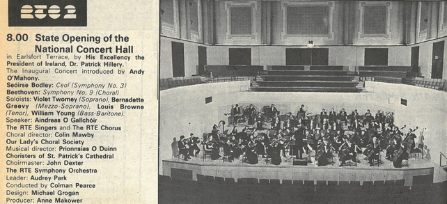 Official State Opening of National Concert Hall in RTE Guide