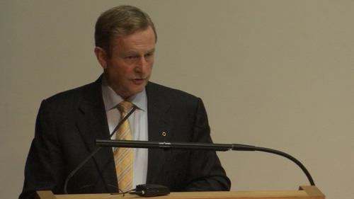Enda Kenny said the 'possibility of unity by consent must be maintained'