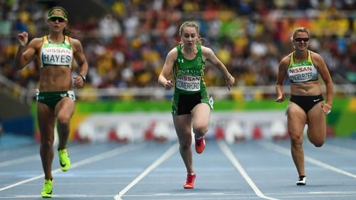 Orla Comerford (C) is looking forward to an even better performance tomorrow