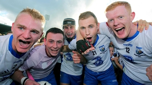 William Hennessy, Stephen Bennett, Colm Roche Niall Fives and DJ Foran celebrate at the end