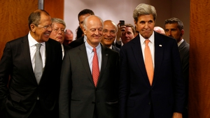 Sergei Lavrov (L) and John Kerry (L) announced the deal