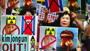 South Korean activists protest against North Korean leader Kim Jong-Un in Seoul