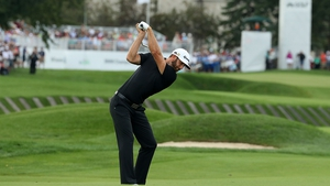 Dustin Johnson leads by three shots at the BMW Championship
