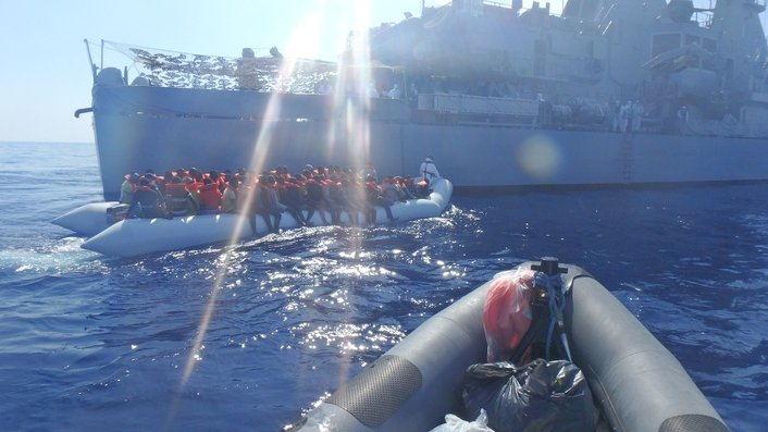Irish naval vessels have rescued over 12,000 migrants
