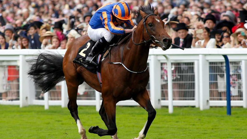 Churchill and Ryan Moore cruised to victory at the Curragh