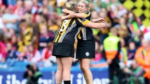 Kilkenny's Keeva Fennelly and Ciara Holden celebrate after the game