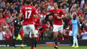 Zlatan Ibrahimovic scored in yesterday's defeat to City