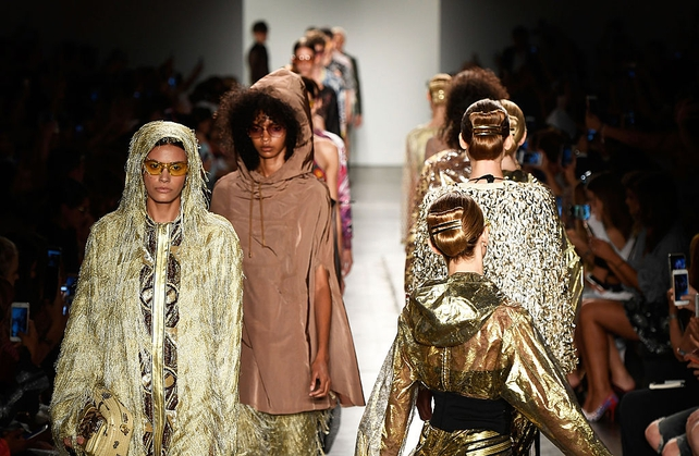 Custo Barcelona fashion show during NYFW September 2016 at Pier 59 Studios
