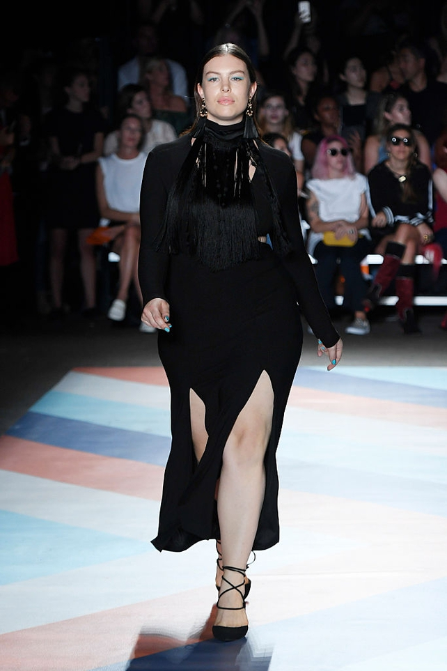 Georgia Pratt walks the runway at the Christian Siriano fashion show The Shows at ArtBeam on September 10, 2016