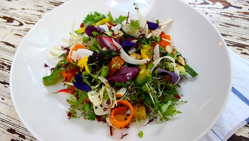 This Super Food Salad is the perfect meal to fight those on-coming colds!