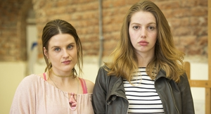 Danielle Mullane (Nika McGuigan) and Aisling O' Dowd (Seana Kerslake) in Can't Cope Won't Cope
