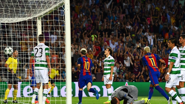 Celtic conceded seven when they last met Barcelona