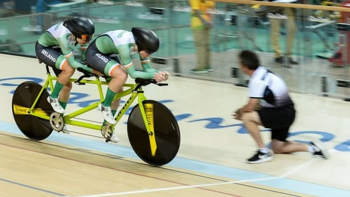 Katie-George Dunlevy and Eve McCrystal powered to gold on their tandem