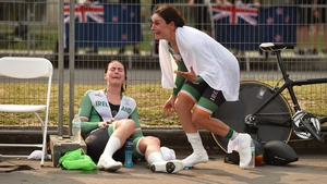 Eve McCrystal and Katie-George Dunlevy are overcome with emotion on learning that they are Paralympic champions