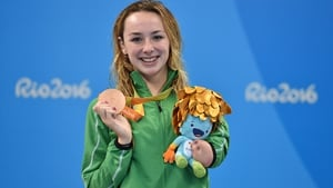 Ellen Keane with her bronze medal