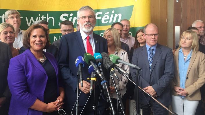 Sinn Féin members publicly united in support of Adams' leadership
