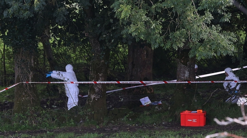 Forensic experts had been examining a piece of remote farmland at Killen, just outside Castlederg in Co Tyrone, since Tuesday