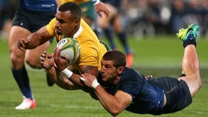 Will Genia crosses over for a try