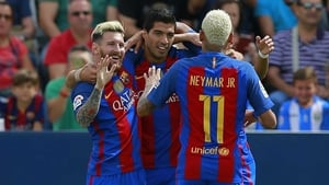 Lionel Messi, Luis Suarez and Neymar were all on the scoresheet for Barcelona