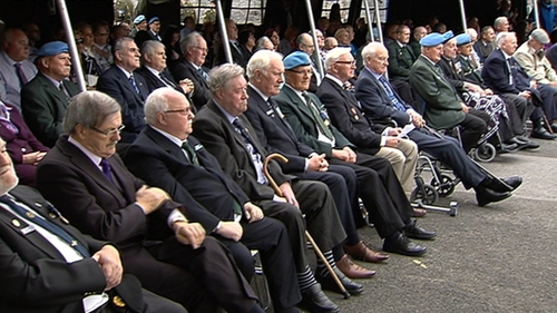 Over 60 former soldiers and their families attended the ceremony in Custume Barracks in Athlone