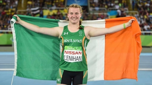 Noelle Lenihan secured the bronze with her opening throw of the final