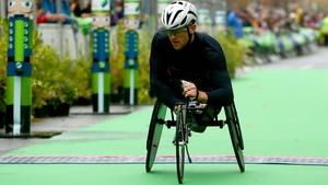 Patrick Monahan competes in the Men's T54 Marathon