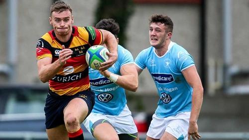 Lansdowne's Daniel McEvoy on the attack
